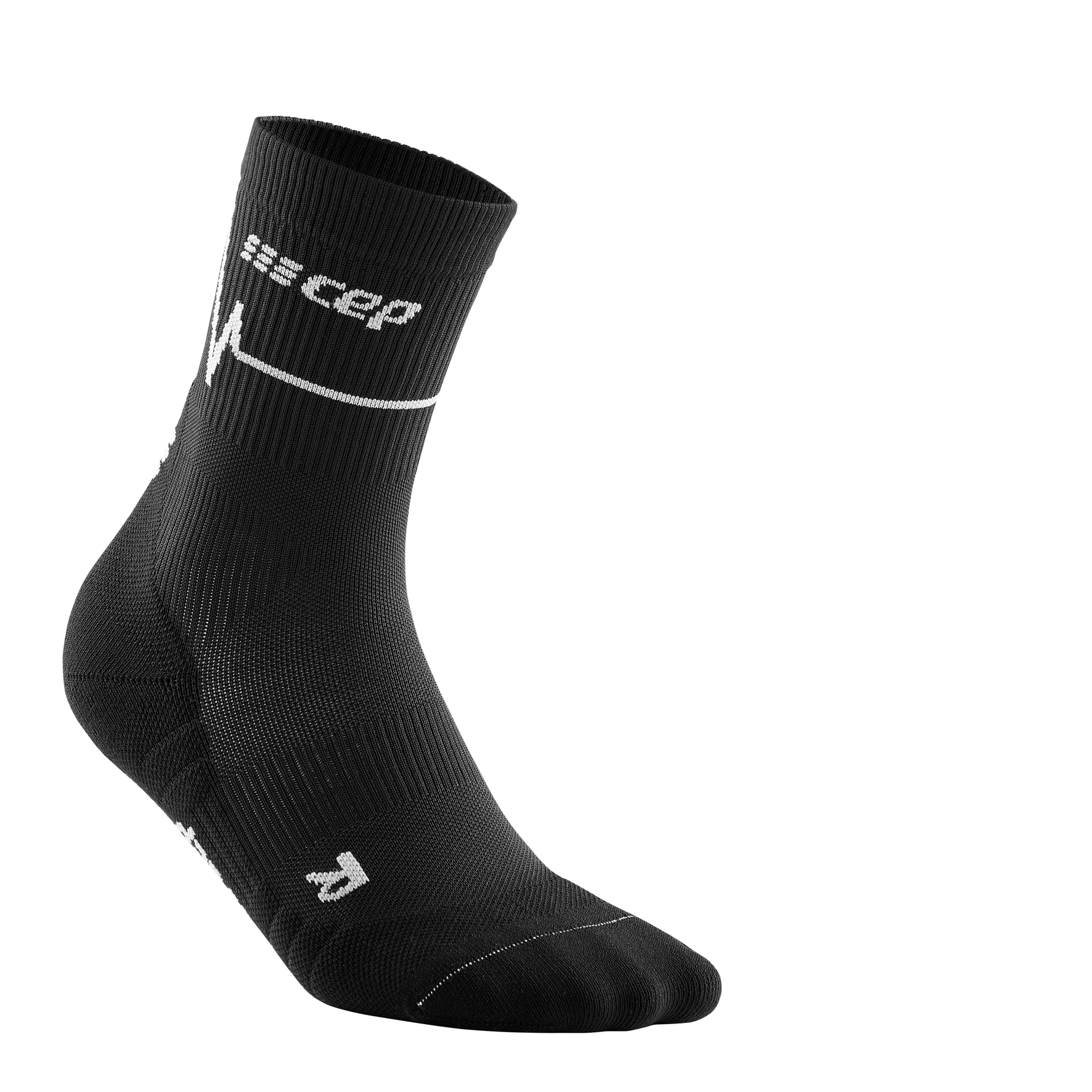 CEP heartbeat mid-cut socks, dark c